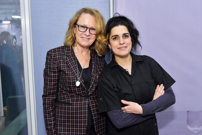 Hammer Director Ann Philbin and Rosha Yaghmai at the Visionary Women event.