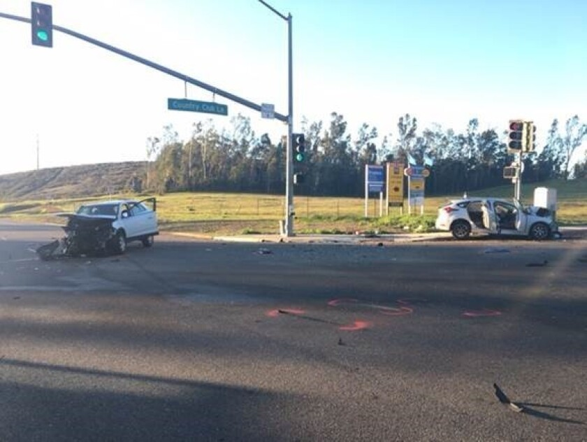 Two women badly hurt in Escondido collision