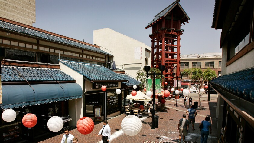 The owners of the Japanese Village, a Little Tokyo shopping area shown in 2007, filed a lawsuit Wednesday against the L.A. County Metropolitan Transportation Authority.