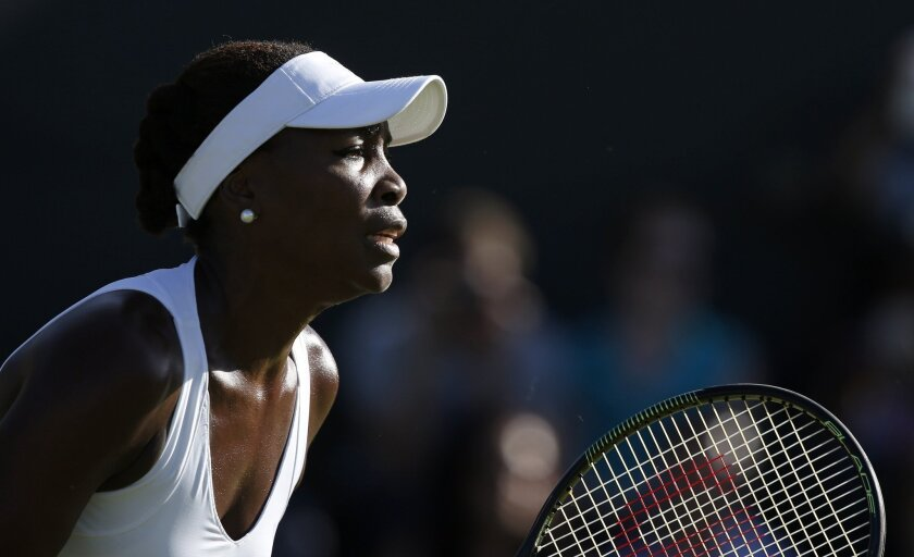 Venus Williams competes at the Wimbledon Championships on Monday. The former top-ranked women's tennis player has sold her Bel-Air home for $6.85 million.