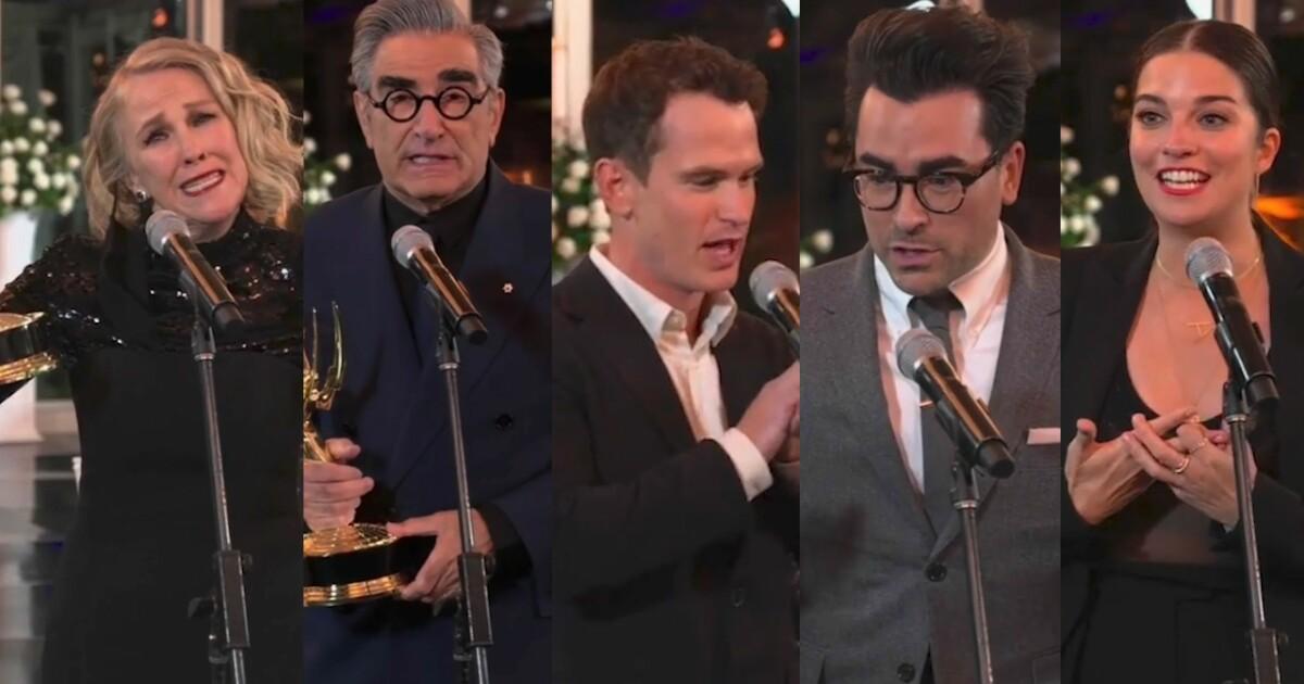 """""""Schitt's Creek"""" Emmy haul sets an all-time record"""