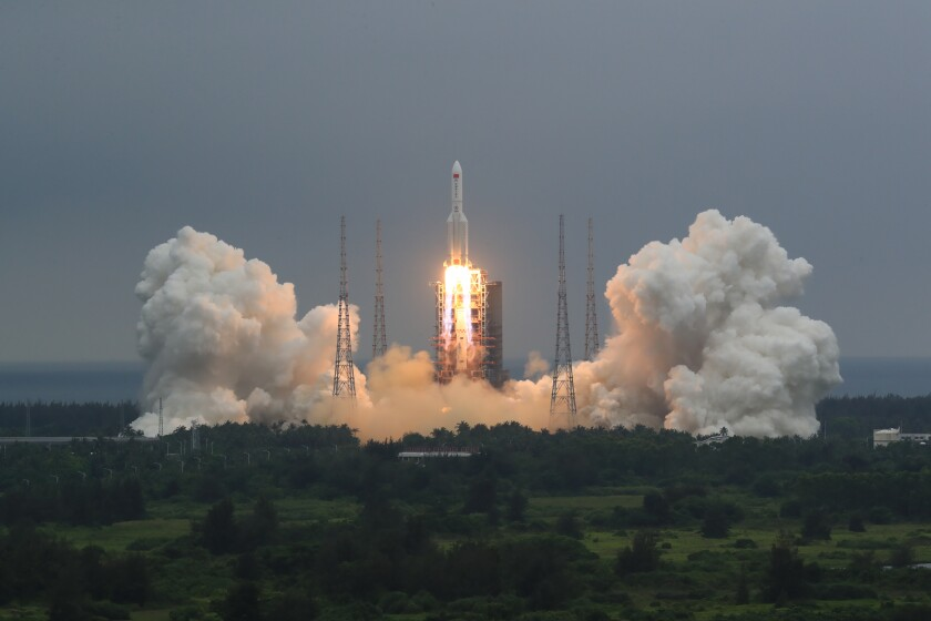 Rocket launch in southern China