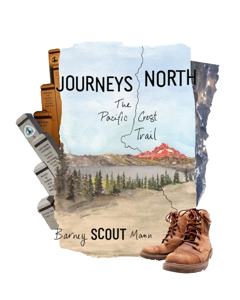 """Book cover for """"Journeys North"""" by Barney """"Scout"""" Mann."""