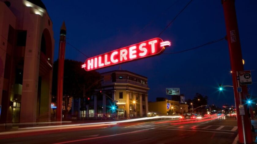 Hillcrest sign on University and 5th