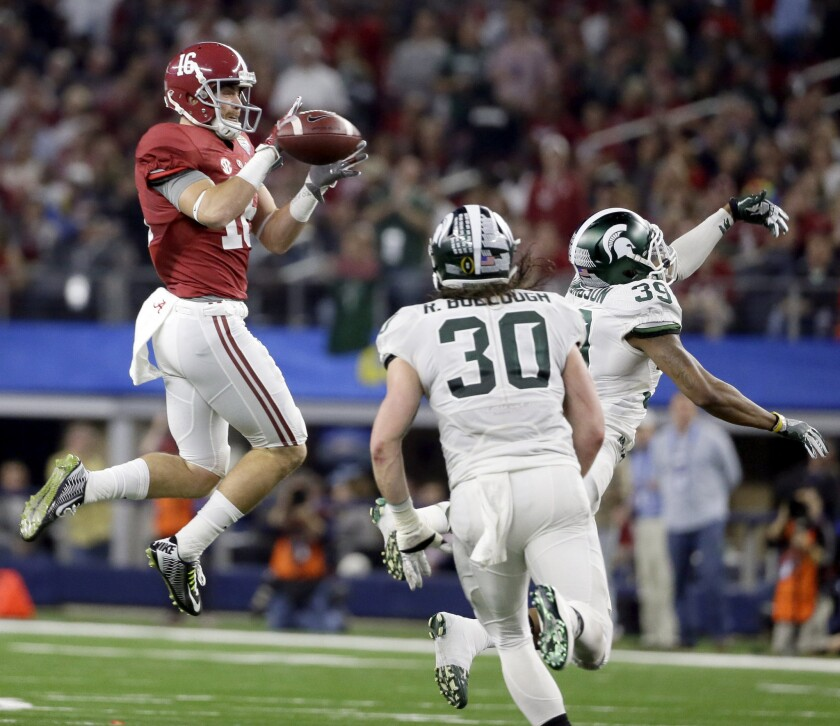Fifth-year senior Richard Mullaney has been quite a catch for Alabama