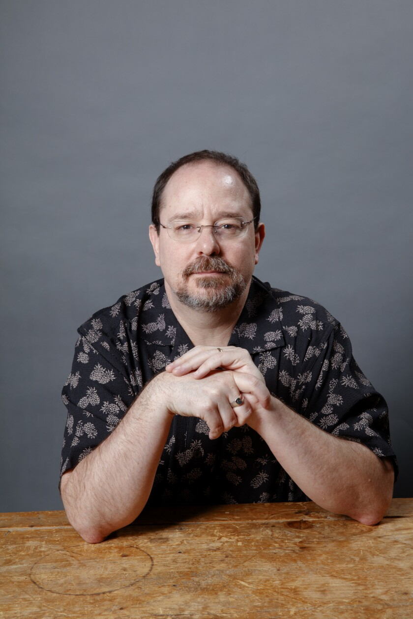 """LOS ANGELES,CA --SUNDAY, APRIL 22, 2018-- - John Scalzi, author of, """"The Collapsing Empire,"""" photogr"""