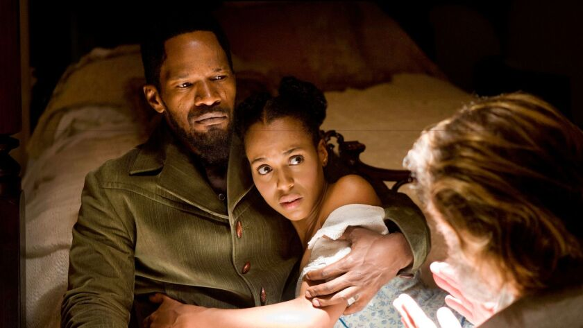 "Jamie Foxx and Kerry Washington star in ""Django Unchained."""