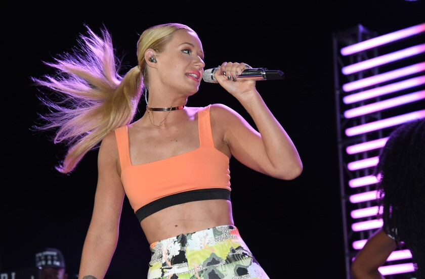 Iggy Azalea performs during the SLS Las Vegas grand opening celebration on Aug. 22.