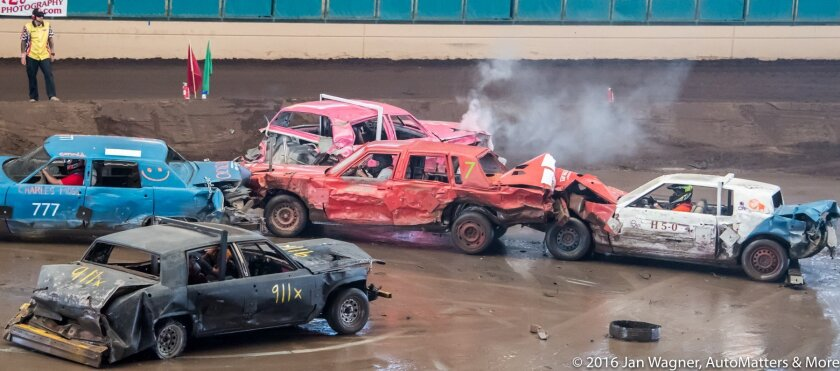 Crunch time at the demolition derby