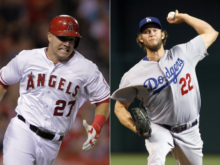 Angels outfielder Mike Trout and Dodgers pitcher Clayton Kershaw were named the most valuable players in their respective leagues and appeal to a youth market the MLB hopes it can turn into lifelong fans.