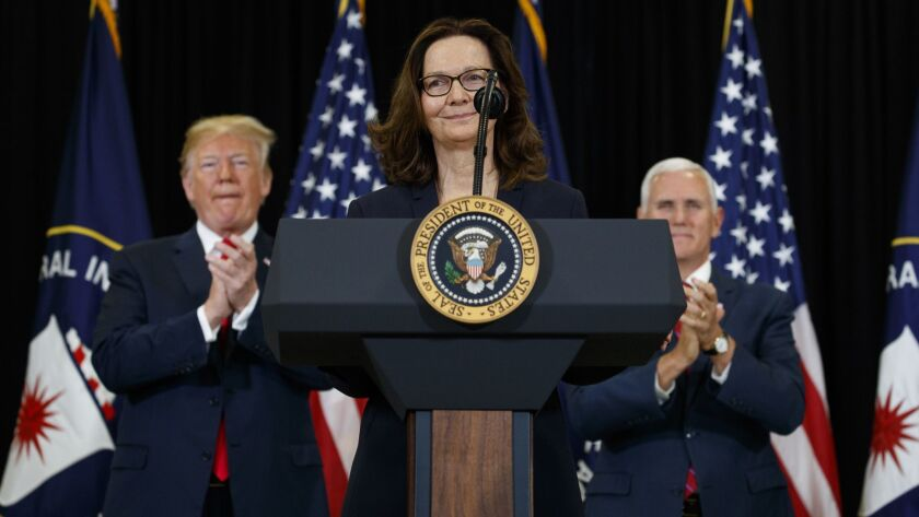 Donald Trump, Mike Pence, Gina Haspel