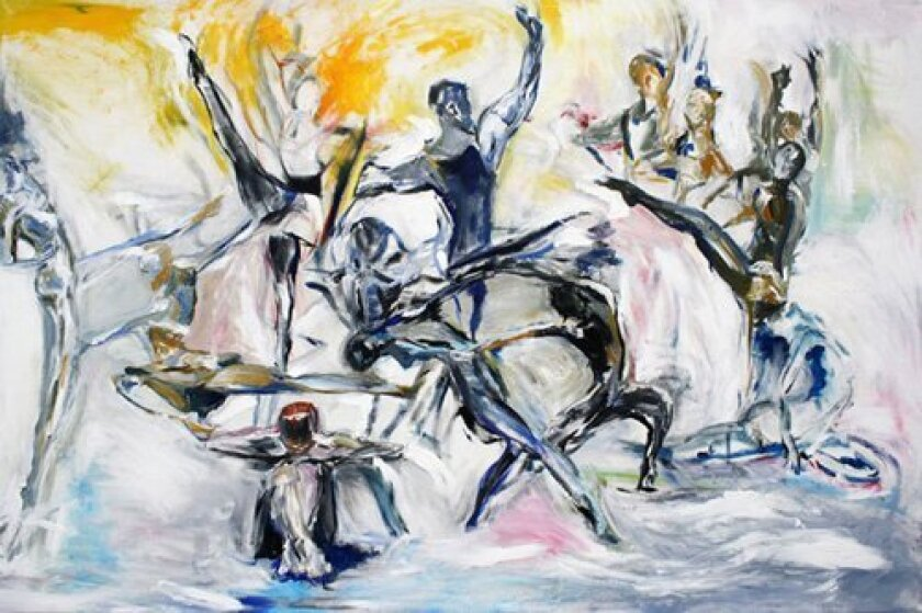 A dance painting by Juliette Milner.