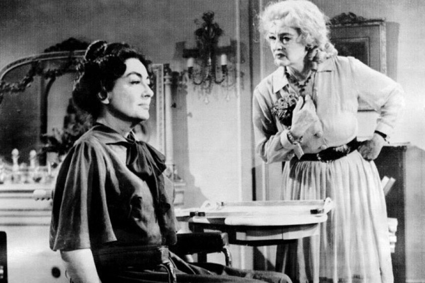 """Joan Crawford, left, and Bette Davis in 1962's """"What Ever Happened to Baby Jane?"""""""