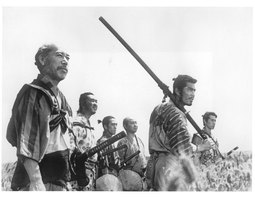 "A scene from ""Seven Samurai,"" one of the classic titles available on FilmStruck. The subscription service will offer films that appeal to movie aficionados."