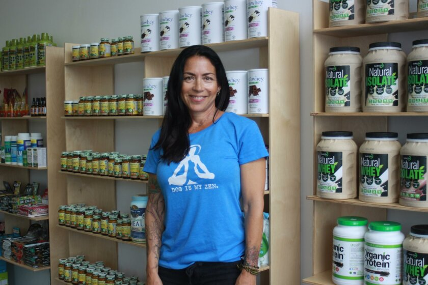 Carla Parra at her Little Vitamin Shop, 1115 Wall St.