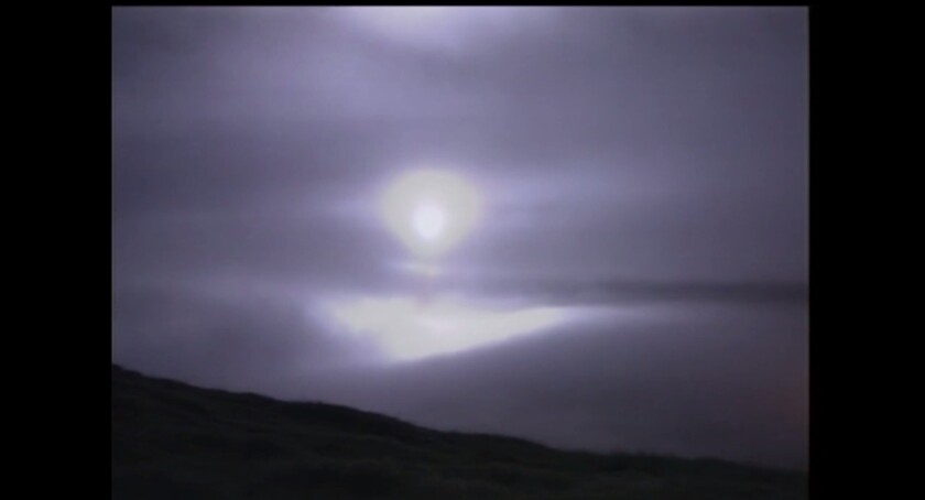 An unarmed missile test launch occurred Wednesday night at Vandenberg Air Force Base.