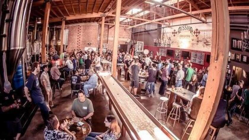 Mission Brewery interior