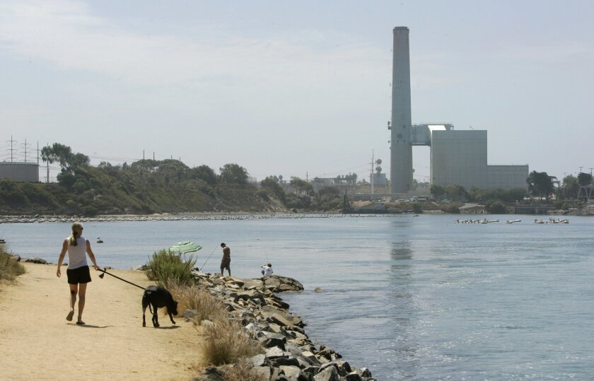 A desalination plant to be built along Agua Hedionda Lagoon near the Encina Power Station in Carlsbad is expected to start producing in 2016. U-T file photo