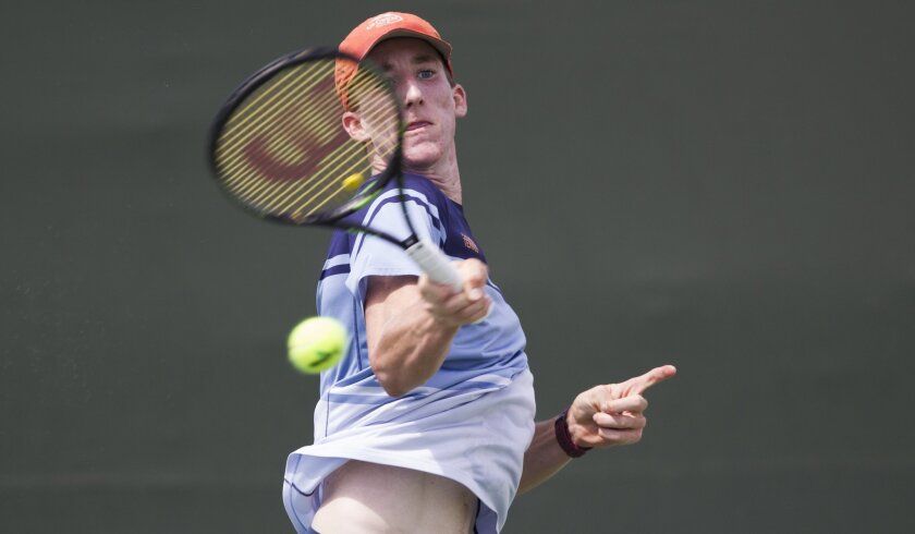 After teaming up for a section doubles title as a freshman, Point Loma junior Keegan Smith won his second straight singles crown Friday at the Barnes Tennis Center.