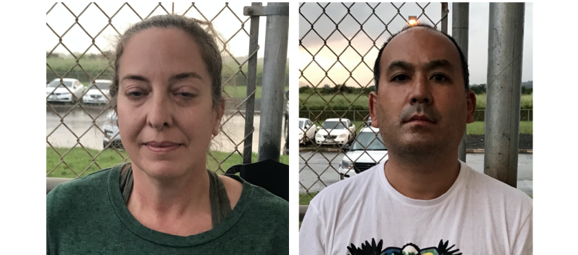Courtney Peterson, 46, and Wesley Moribe, 42, of Wailua, Hawaii were arrested