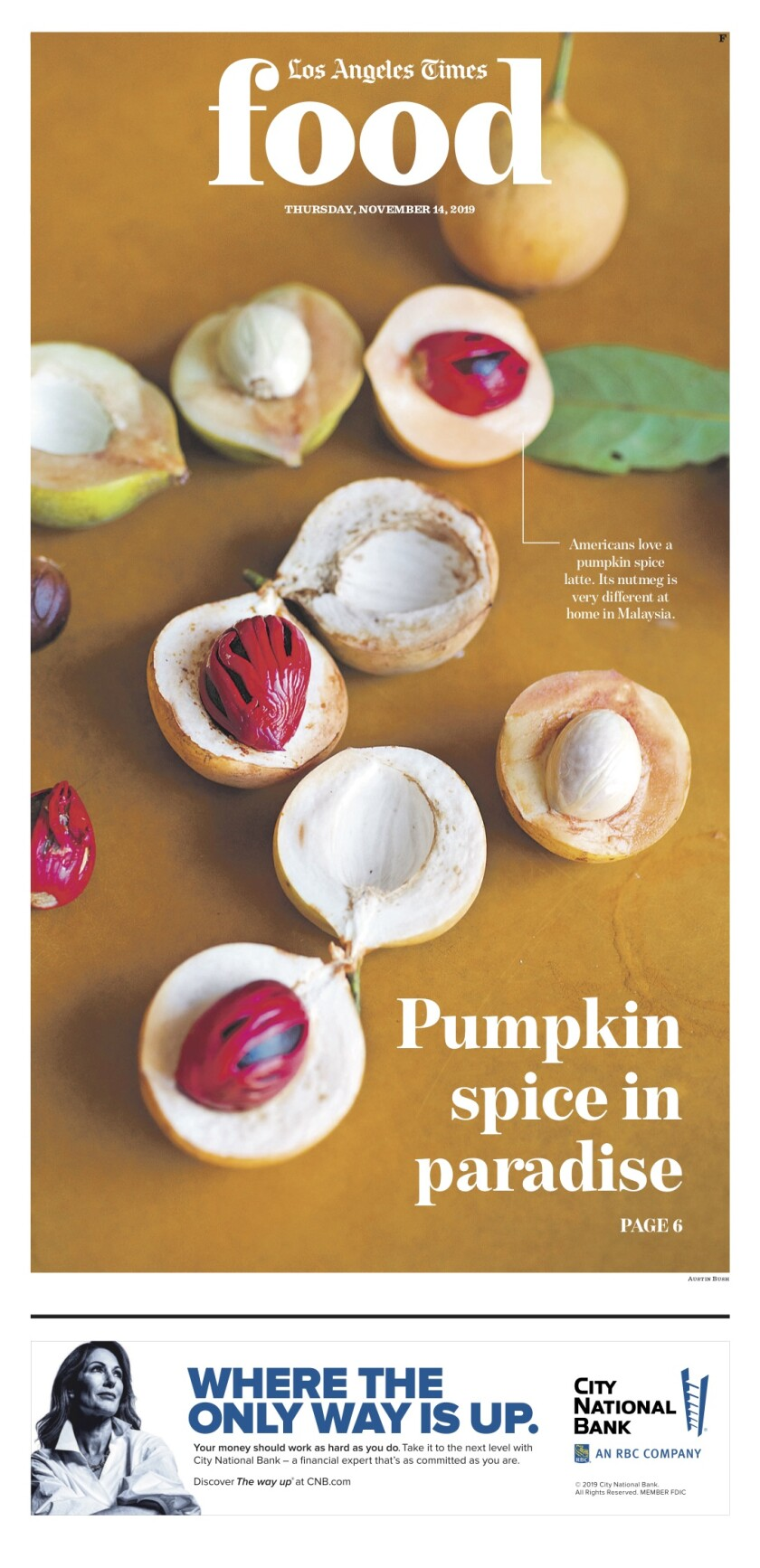 Los Angeles Times Food cover, November 14, 2019