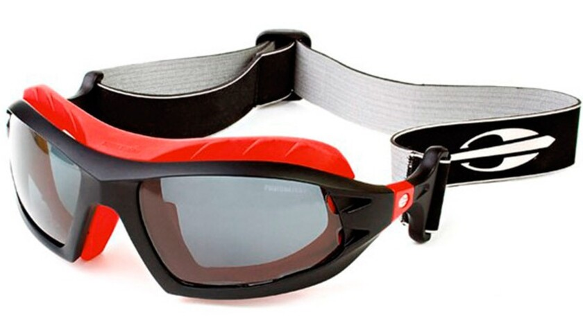 These polarized, hydrophobic-coated plastic-rimmed surfer sunglasses from Brazil include detachable arms that can be replaced by a snap-in neck strap and a fog-eliminating foam spacer that distances the glasses from skin. Price:$160 wearsurfglasses.com