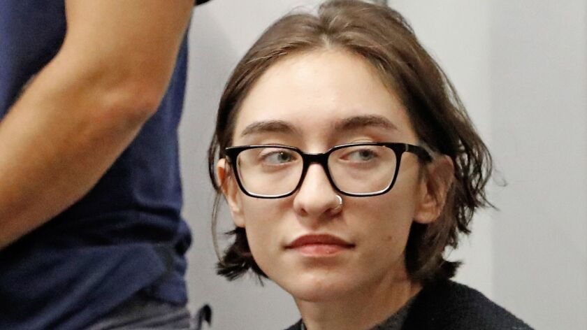 U.S. college student Lara Alqasem appears at a court hearing Thursday in Tel Aviv District Court.