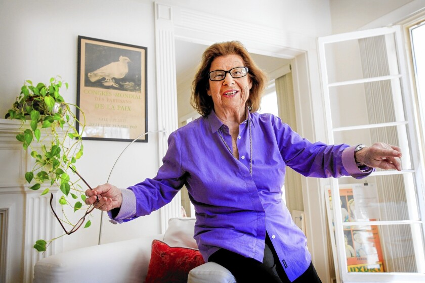Screenwriter Norma Barzman at her home in Beverly Hills.