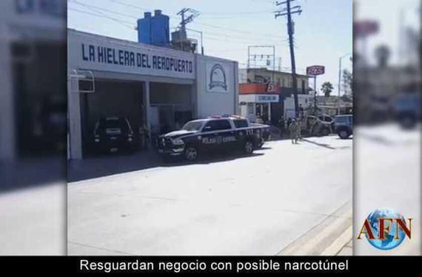 """Resguardan negocio con posible """"narcotúnel"""""""