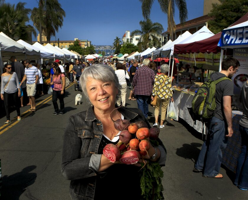 Catt White, the founder and operator of the Little Italy Mercato Farmers' Market is preparing for the 5th anniversary. Howard Lipin • U-T PHOTOS