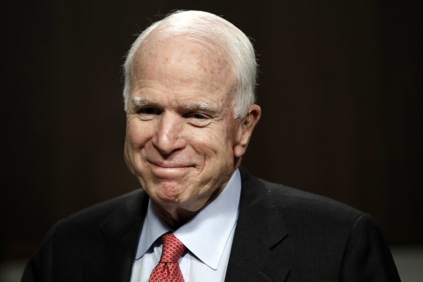 Sen. John McCain (R-Ariz.) announced last summer that he had been diagnosed with an aggressive brain cancer.