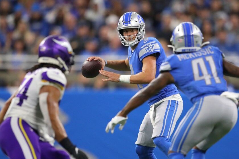 Detroit Lions quarterback Matthew Stafford could have a field day against the Oakland Raiders secondary this week.