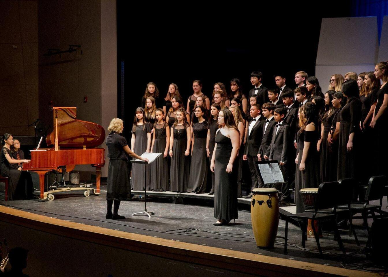 TPHS Chorus under the direction of Amy Gelb