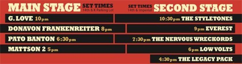 The NIGHT + DAY Street Fest set times have been released.