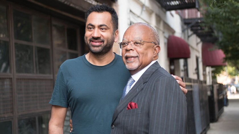 """Kal Penn, left, is one of the celebrities in a new episode of """"Finding Your Roots With Henry Louis Gates, Jr."""" on PBS."""