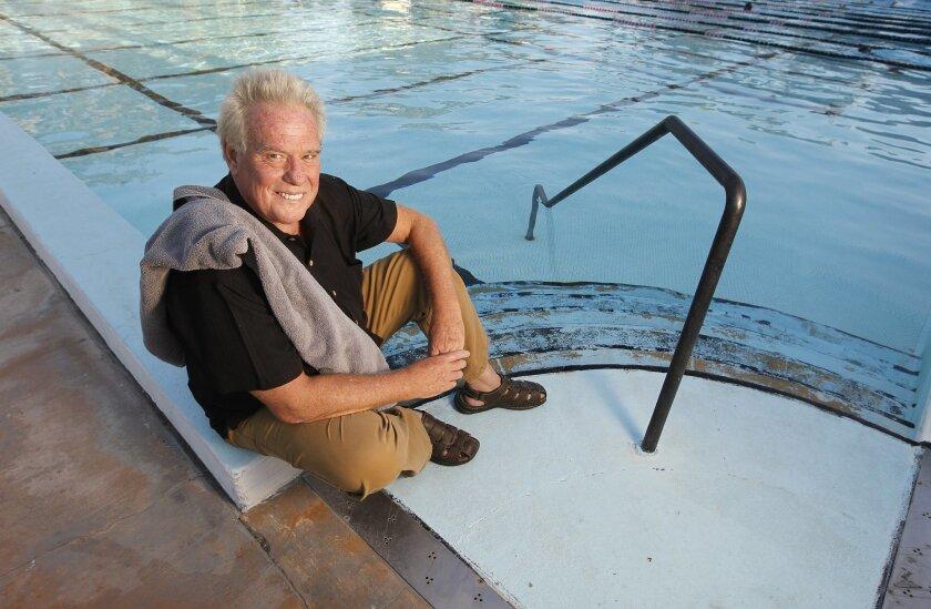 Sam Woodhouse, San Diego Repertory Theatre's artistic chief, at the Bud Kearns Memorial Pool. Earnie Grafton • U-T