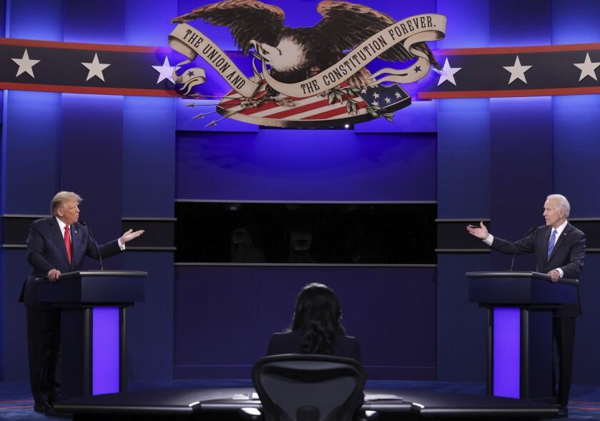 El presidente Donald Trump y el candidato presidencial demócrata Joe Biden