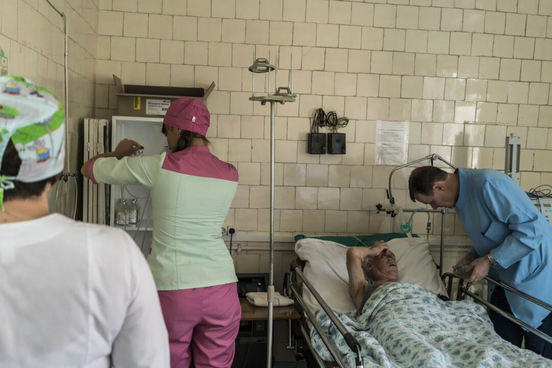 Avdiivka Central City Hospital in Ukraine