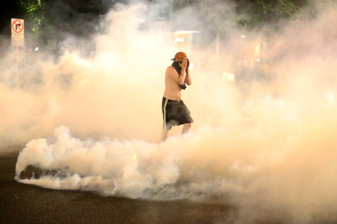 Tear gas in Portland.