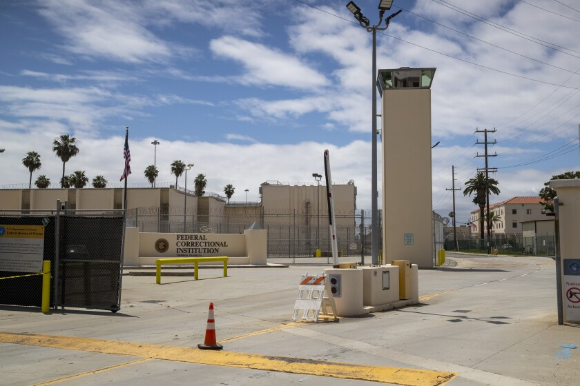 A view of the Terminal Island facility in San Pedro on May 12.