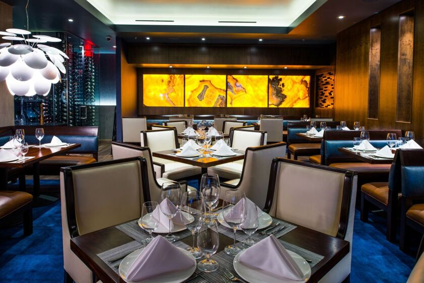 The swanky dining room of Stake Chophouse & Bar, which raised the culinary bar in Coronado.