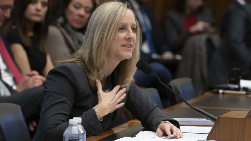 Kathy Kraninger, director of the Consumer Financial Protection Bureau, answers questions during a hearing of the House Financial Services Committee on Thursday.