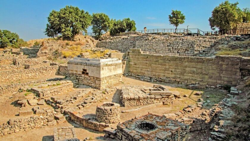 The archeological ruins of Troy include the ancient legendary city and eight other civilizations bui