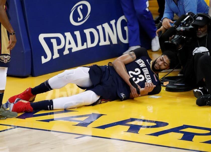 En la imagen, el jugador de los Pelicans de Nueva Orleans Anthony Davis. EFE/Archivo