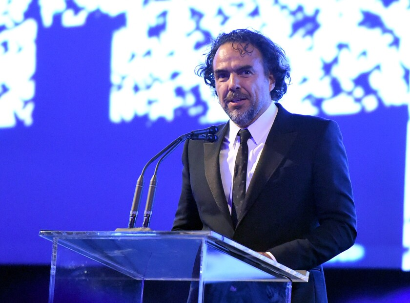 LOS ANGELES, CA - NOVEMBER 07: Honoree Alejandro Gonzalez Inarritu speaks onstage during LACMA 2015 Art+Film Gala Honoring James Turrell and Alejandro G IÒ·rritu, Presented by Gucci at LACMA on November 7, 2015 in Los Angeles, California. (Photo by Jason Merritt/Getty Images for LACMA)