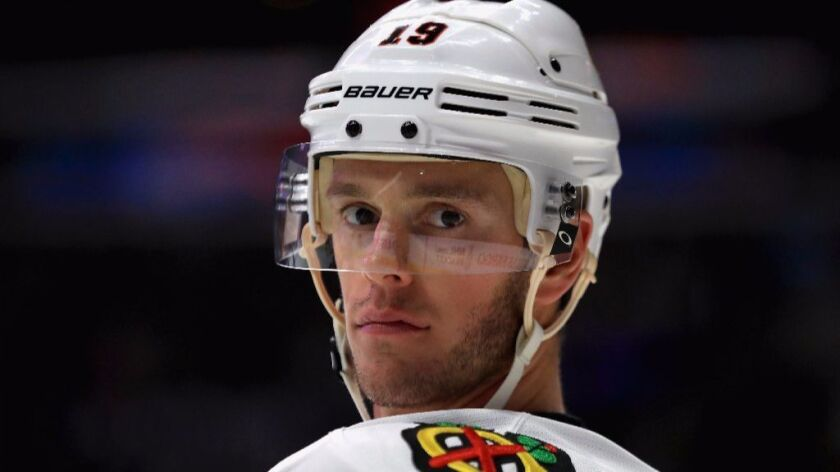 Blackhawks captain Jonathan Toews has 39 goals and 108 points in 124 career playoff games.