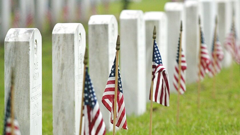 Memorial Day services at the cemetery at Fort Benning, in Columbus, Ga., one of many cities credited with starting the tradition.