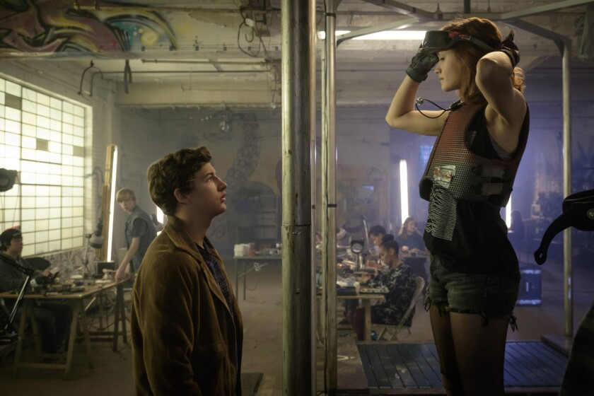 "Tye Sheridan and Olivia Cooke in ""Ready Player One."""