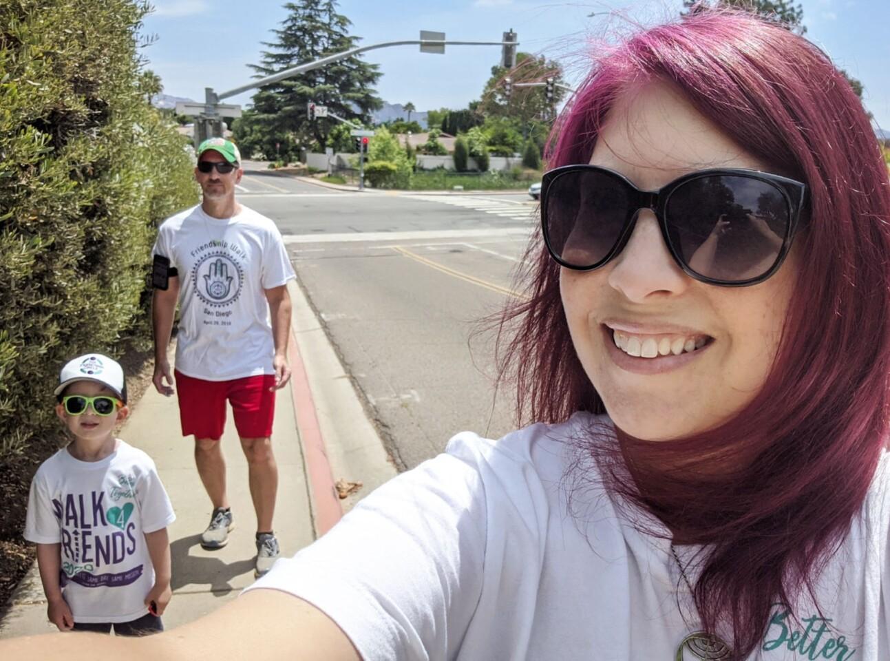 Tanya Buresh-Werby with her son Ari and husband Steve.