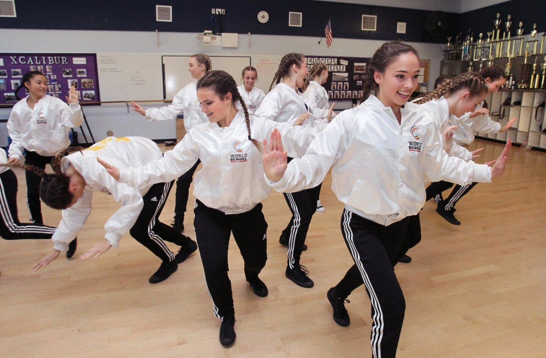 Carlsbad High School's Lancer Dancers perform.